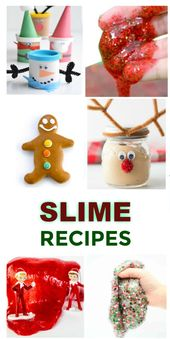 DIY Slime 30+ SLIME RECIPES FOR KIDS (Holiday slime recipes) #slime #slimerecipes #christm...