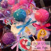 Disney Princesses Cake Pops Princess Theme Birthday Party Princess Theme Birthday Princess Birthday Party Decorations