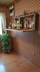 Rustic Murphy Bar Wall mount Bar Man Cave Liquor Cabinet