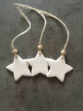 Clay stars, star tags, clay star tag, bedroom decor, rustic star tags, hanging stars, clay tags, small clay stars