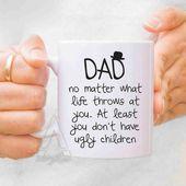 Väter Tagesgeschenk von Tochter, Papa vom Sohn, Papa Becher, neues Pap-Geschenk, Papa Geburtstag Papa Papa Papa Papa Stäbel, personalisiertes Papa Geschenk von Kindern MU138