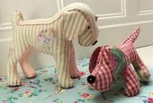 Cute Dog pattern, make any size to make mama and babies.  I made some and put ma…