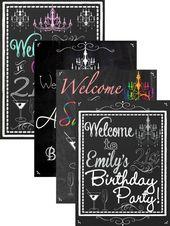 21st birthday ideas, 21st birthday party decorations, custom 21st birthday sign,…