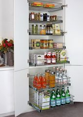 Pull Out Pantry Stainless Steel Drawers Set of 5 | TANSEL Storage