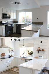 White Semihandmade Kitchen Renovation: Vorher + Nachher