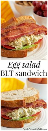 Egg salad BLT sandwich