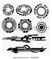 Various Technological Futuristic Contemporary Shapes Stock Vector (Royalty Free) 139068806