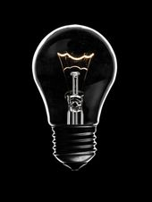 Glass Light Bulb With Glowing Elements On Black Background Light Bulb Different Light Bulbs Bulb