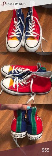 Multi colored converse | Colored