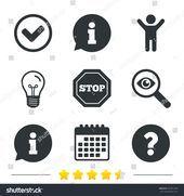 Information Icons Stopp Verbot Und Frage Faq Marke