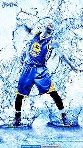 Stephen Curry  'Splash ' Wallpaper   Posterisiert   NBA-Hintergründe   – steven