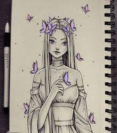 1 1001 + idées comment dessiner une fille - tutoriels et images - #draw #Girl #idea