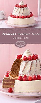 Anniversary Classic Cake: Eine dreistöckige Torte aus Klassikern aus dem Backsh… – Kuchen & Cake & Gateau