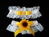 Sonnenblume Strumpfband Hochzeitsidee   – Sunflower-Inspired Wedding Ideas