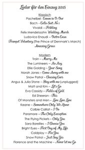 Die Schonsten Lieder Fur Den Einzug Bei Der Trauung Lieder Hochzeit Musik Hochzeit Hochzeit Lieder Einzug