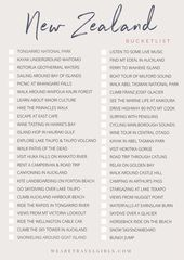 Download the We Are Travel Girls New Zealand Bucketlist. This handy checklist ha…