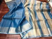 Best suited for formal occasions as much as for casual parties, Indian linen sar…