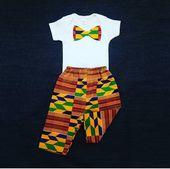 Jungen Set / Ankara Baby Body, junge Outfit für Bilder / junge Kente Set / afrikanische Baby Boy Set / Baby Fi   – Products