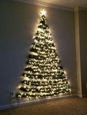 Tolle 36 Diy Wand Weihnachtsbaum Ideen. Mehr unter homishome.com / … – Beste Garten Dekoration