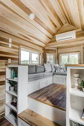 Winzige Häuser, kleine, kompakte Gebäude, die in…