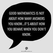 Good arithmetic is just not about what number of solutions you realize…It's about the way you…