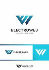 Electro Web E Letter Logo Template #83058