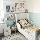 Ikea Hack Cot with playground and beautiful works of art for children on the walls. The nurse…