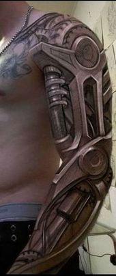Increíble tatuaje biomecánico para hombres   – Tattoo-Designs