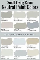 Small living room paint color ideas – neutral livi…