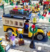 Mein Weihnachtsdorf mit neu hinzugekommener Ski Lodge und Resort für 2017 – LEGO Town …   – Lego Christmas village