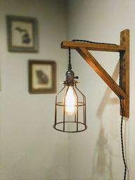 Wall Sconce | Pendant Light | Wall Lamp | Bedside Light | Rustic Lamp | Wooden Light | Modern | Industrial Decor | Hanging Light | Farmhouse by WhiskeyPinesCo on Etsy
