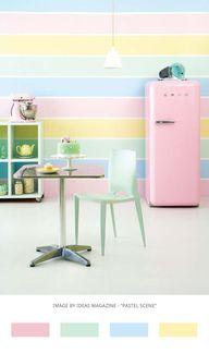 colour palette of pastel colours