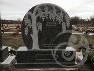 Granite with Willow tree sculpture
