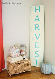 DIY Fall Sign: Harve
