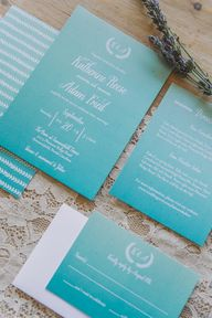 rustic ombre wedding