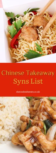 Yummy Recipes: Chinese Takeaway & Restaurant Foods SlimmingWorld Syns List- No time to cook? Always on the go? Yes, its always tempting to just order your meal to your favorite Chinese restaurant, and theres nothing wrong with that, Im also guilty. But are they syn free? Well, this list is your cheat sheet. Lets go! #synfree #chinesemeal #chinesetakeaway #chinesefoods #restaurantfoods