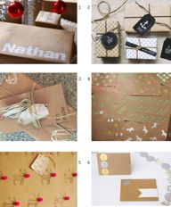 DIY wrapping paper &