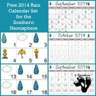 Free Rain Calendar f