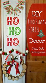 DIY Christmas Porch