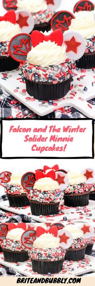 Falcon and The Winter Solider Minnie Cupcakes!