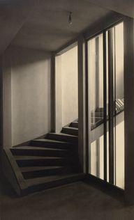 Moriz Nähr:  Stiegenhaus im Haus Stonborough-Wittgenstein [Staircase in the house Stonborough-Wittgenstein]  1928
