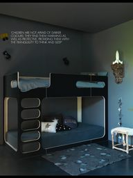Kids room in dark co