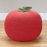 Apple pouf for a chi