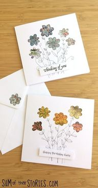magazine flower cards