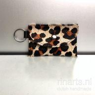 Leopard print cardholder wallet