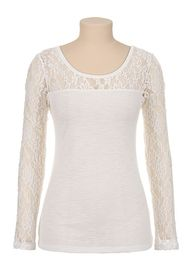 Long Lace Sleeve Tee