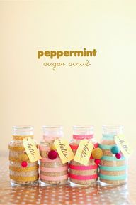 DIY peppermint sugar