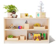 Wooden Montessori Playshelf for Toys and Books