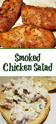 This Smoked Chicken Salad Recipe is the perfect way to use up leftover smoked chicken! Pair up with good bread to make the perfect sandwich!  Add different seasonings or mix in different vegetables to make it different everytime! via @guywhogrills