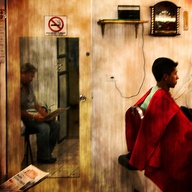 Holga Barbershop by